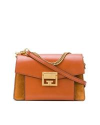 rotbraune Leder Umhängetasche von Givenchy