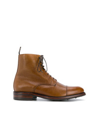 rotbraune Lederfreizeitstiefel von Berwick Shoes