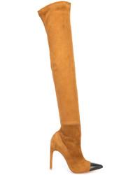 rotbraune Overknee Stiefel von Givenchy