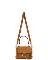 rotbraune Satchel-Tasche aus Leder von Chloé