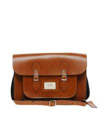 Rotbraune Satchel-Tasche aus Leder von Leather Satchel Company