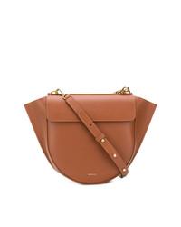 rotbraune Satchel-Tasche aus Leder von Wandler