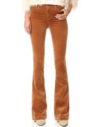 rotbraune Schlaghose von AG Jeans