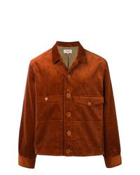 rotbraune Shirtjacke von YMC