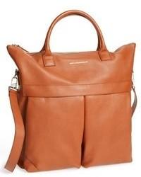 rotbraune Shopper Tasche aus Leder