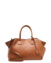 rotbraune Shopper Tasche aus Leder von Anna Field