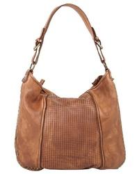 rotbraune Shopper Tasche aus Leder von CLUTY