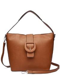 rotbraune Shopper Tasche aus Leder von COLLEZIONE ALESSANDRO