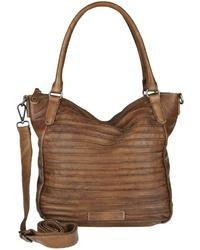 rotbraune Shopper Tasche aus Leder von FREDsBRUDER