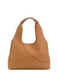 rotbraune Shopper Tasche aus Leder von Hogan