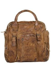 rotbraune Shopper Tasche aus Leder von LANDLEDER