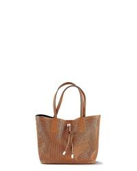 rotbraune Shopper Tasche aus Leder von Lascana