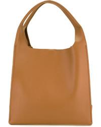 rotbraune Shopper Tasche aus Leder von Maison Margiela