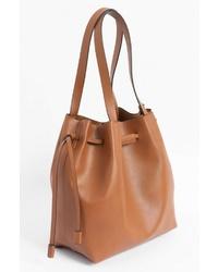 rotbraune Shopper Tasche aus Leder von ORSAY