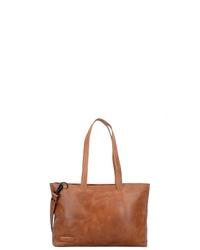rotbraune Shopper Tasche aus Leder von Plevier