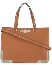 rotbraune Shopper Tasche aus Leder von RED Valentino