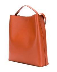 rotbraune Shopper Tasche aus Leder von Aesther Ekme