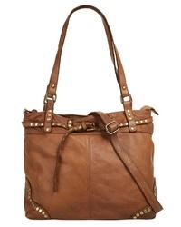 rotbraune Shopper Tasche aus Leder von SAMANTHA LOOK