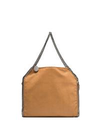 rotbraune Shopper Tasche aus Leder von Stella McCartney