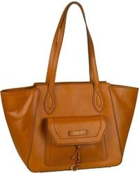 rotbraune Shopper Tasche aus Leder von The Bridge