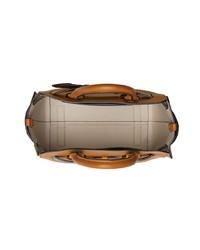 rotbraune Shopper Tasche aus Leder von Burberry