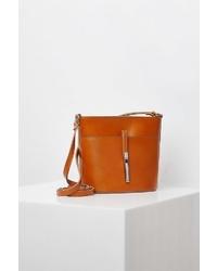 rotbraune Shopper Tasche aus Leder von Usha