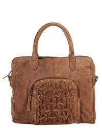 rotbraune Shopper Tasche aus Leder von X-ZONE