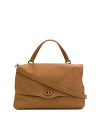 rotbraune Shopper Tasche aus Leder von Zanellato