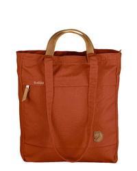 rotbraune Shopper Tasche aus Segeltuch
