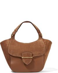 rotbraune Shopper Tasche aus Wildleder von Michael Kors