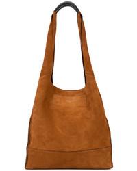 rotbraune Shopper Tasche aus Wildleder von Rag & Bone