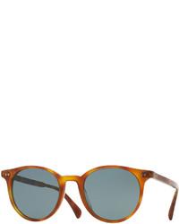 rotbraune Sonnenbrille