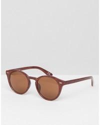 rotbraune Sonnenbrille von Asos