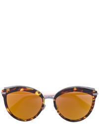 rotbraune Sonnenbrille von Christian Dior