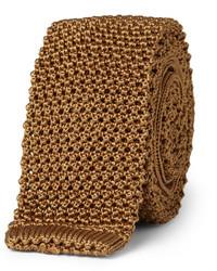 rotbraune Strick Krawatte von Charvet