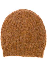 rotbraune Strick Mütze von Isabel Marant