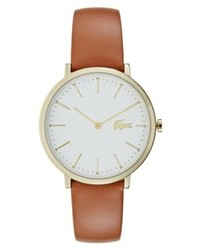 rotbraune Uhr von Lacoste