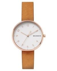 rotbraune Uhr von Skagen