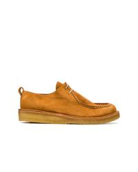 rotbraune Wildleder Derby Schuhe von AMI Alexandre Mattiussi