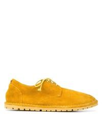 rotbraune Wildleder Derby Schuhe von Marsèll