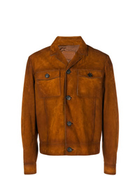 rotbraune Shirtjacke aus Wildleder von Prada