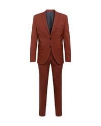 rotbrauner Anzug von Selected Homme