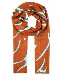 rotbrauner bedruckter Schal von By Malene Birger