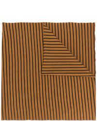 rotbrauner horizontal gestreifter Wollschal von Barena