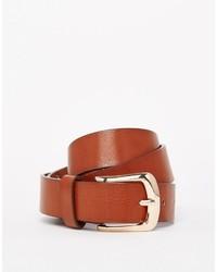 rotbrauner Ledergürtel von Vero Moda