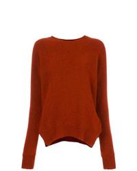 rotbrauner Oversize Pullover von Forte Forte