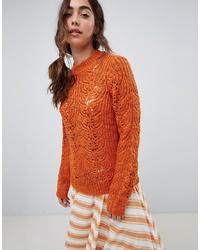 rotbrauner Oversize Pullover von Vero Moda