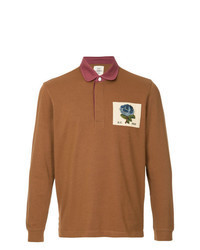 rotbrauner Polo Pullover