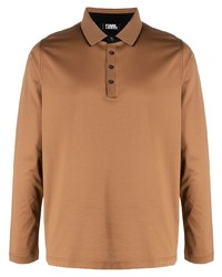 rotbrauner Polo Pullover von Karl Lagerfeld