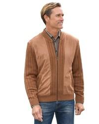 rotbrauner Pullover mit einem Reißverschluß von MARCO DONATI